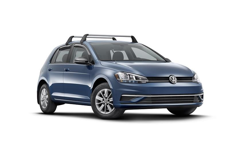2017 Volkswagen Golf Base Carrier Bars (4 door). Attachment, Attachment, Installation ...