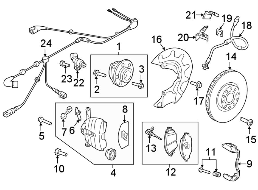 5G0927903AM - Volkswagen Abs wheel speed sensor wiring ...