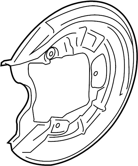 2017 volkswagen jetta backing plate  brake dust shield  splash shield  dust shield for the