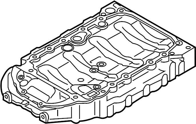 volkswagen tiguan engine oil pan  oil sump  upper oil pan