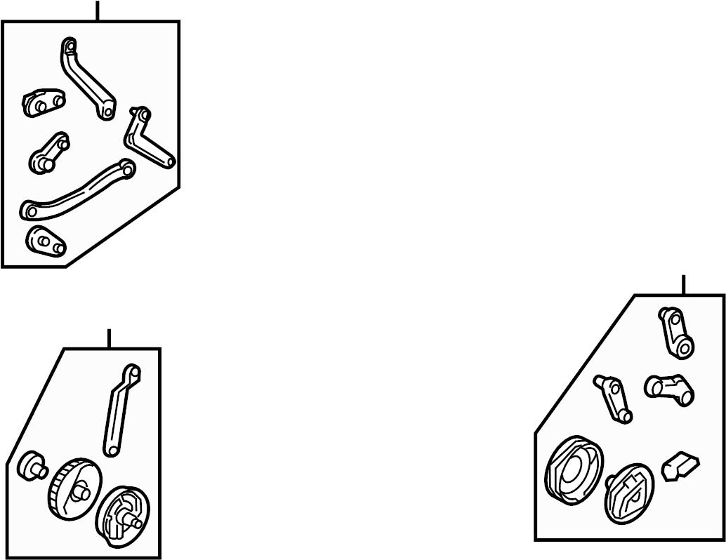 volkswagen beetle lever  mode  hvac  door  heater  link  accessory kit