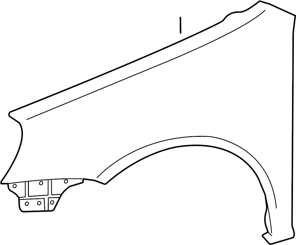 2013 volkswagen golf r fender assembly  front panel  seal