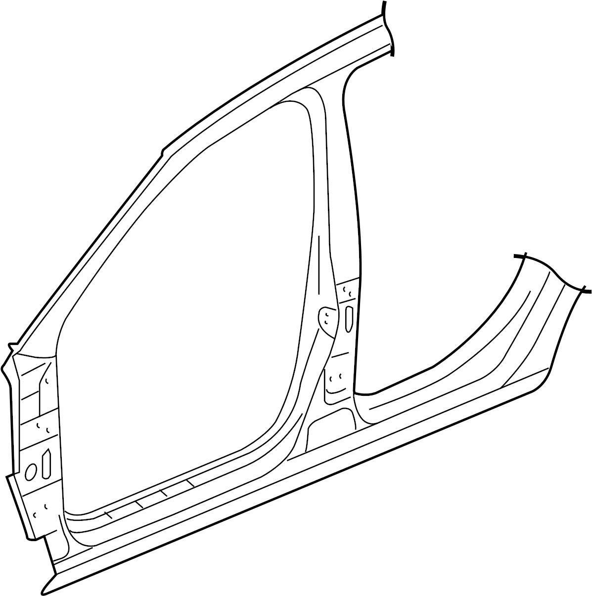 1K4809606C - Volkswagen Panel. Uniside. Aperture. Hinge pillar. Side. 4 DOOR | Emich Volkswagen ...